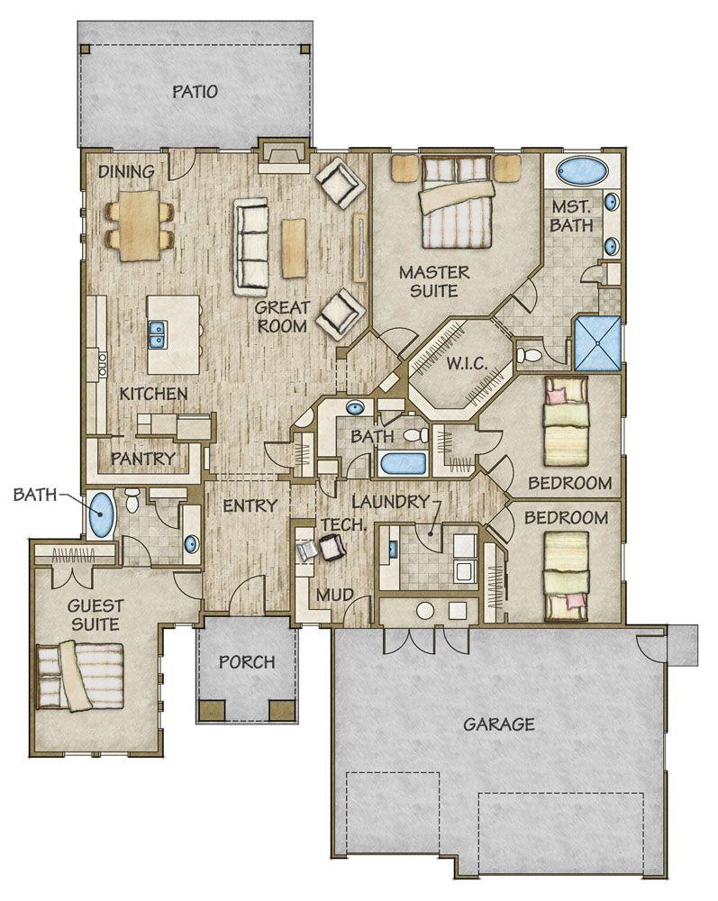 Blue Heron Floor Plan Revised Todd Campbell Custom Homes Home Builder Builder Treasure Valley Boise Kuna Meridian Nampa Caldwell Idaho